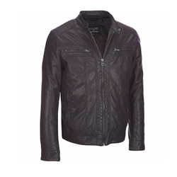 Wilsons Leather - Mens Moto Faux-Leather Jacket