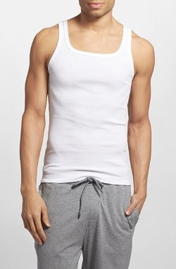 Boss - Ribbed Cotton Tank Top