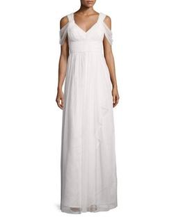 Donna Morgan  - Colette Dot Mesh Flowy Gown