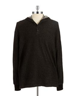 Black Brown 1826  - Thermal Henley Shirt