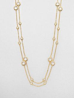 Adriana Orsini  - Long Double-Row Station Necklace