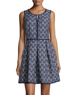 Max Studio - Jacquard Sleeveless Dress