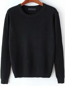 Romwe - Round Neck Sweater