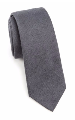Saks Fifth Avenue Collection  - Textured Wool & Silk Tie