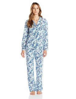Dear Foams  - Long Sleeve Notch Collar Printed Pajama Set