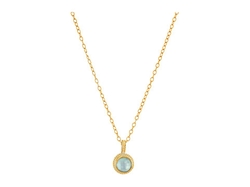 Anna Beck  - Aquamarine Round Drop Necklace