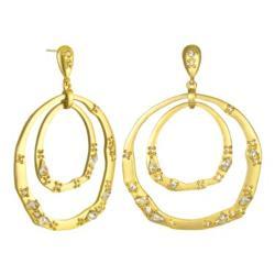 Paloma & Ellie  - Gold-tone & Crystal Orbital Hoop Earrings