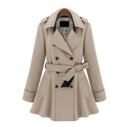 ZLYC - Double Breasted Classic Trench Coat
