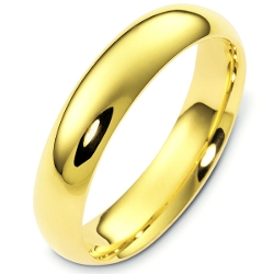 Wedding Bands - Heavy Comfort Fit Plain Wedding Band Ring