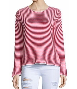 Frame Denim - Cropped Jewel-Neck Striped Top