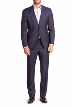 611 Saks Fifth Avenue New York - Sharkskin Wool Suit