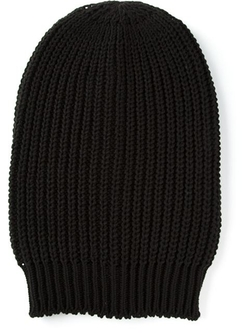 Rick Owens - Ribbed Beanie Hat