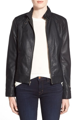 Cupcakes And Cashmere - Faux Leather Moto Jacket