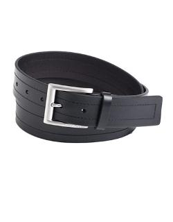 Hugo Boss - Double-Stitch Leather Belt