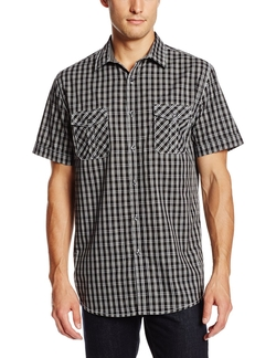 Axist - Short Sleeve Gradient Check Woven Shirt