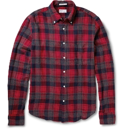 Gant Rugger - Collar Checked Cotton-Flannel Shirt