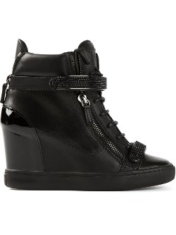 Giuseppe Zanotti Design  - Concealed Wedge Heel Hi-top Sneakers