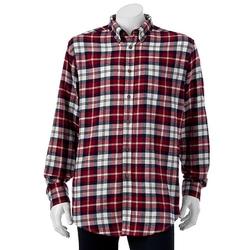 Croft & Barrow  - Plaid Flannel Casual Button-Down Shirt