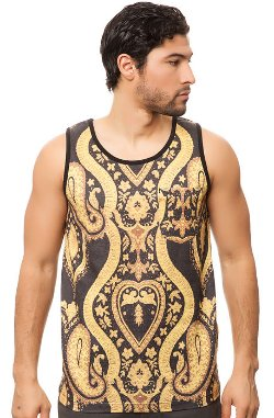 Black Scale  - The Nervi Tank Top