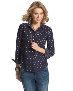Effortless  - Striped Dot Giana Shirt