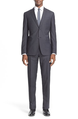 Z Zegna  - Trim Fit Stripe Wool Suit