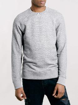 Topman - Texured Raglan Sweatshirt