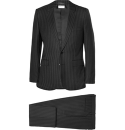 Saint Laurent   - Slim-Fit Pinstripe Wool Suit