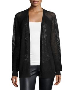 Halston Heritage   - Mesh-Inset Combo Sweater