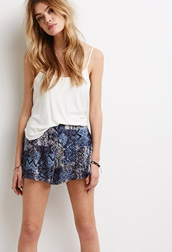 Forever 21 - Tribal Print Crepe Shorts