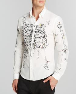 McQ  - Rib Cage Sport Shirt - Slim Fit