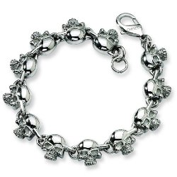 Chisel  - Stainless Steel Skull 8in Bracelet