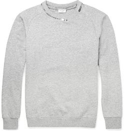 Saint Laurent - Zip-Detailed Cotton-Blend Sweatshirt