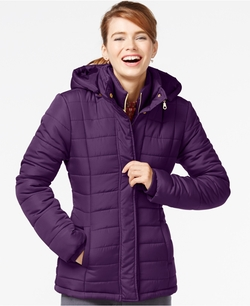 Rampage - Hooded Quilted Puffer Coat