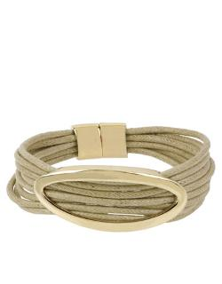 Kenneth Cole New York  - Natural Multi-row Oval Pendant Bracelet