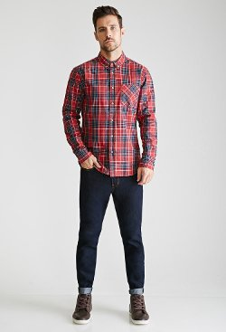 Forever 21 - Plaid Button-Collared Shirt