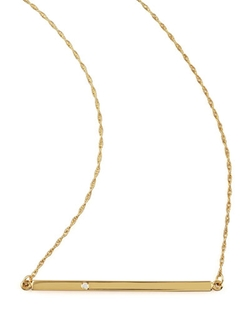 Jennifer Zeuner	  - Bar-Pendant Necklace