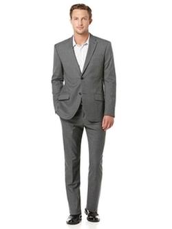 Perry Ellis - Regular Fit Heather Stripe Suit
