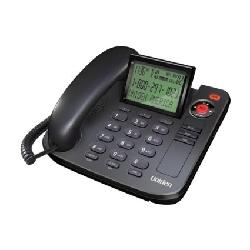 Uniden  - 1360BK Desktop Corded Telephone, black, one phone