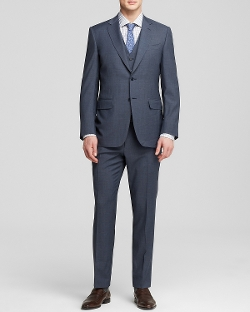 Canali - Basket Weave Three-Piece Suit
