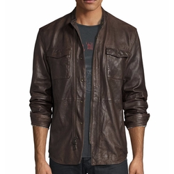 John Varvatos Star USA - Leather Shirt Jacket