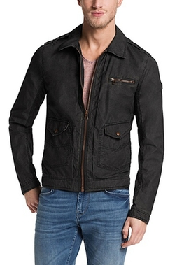 Boss - Cotton Blend Coated Jacket