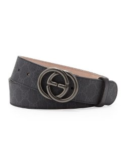 Gucci - Supreme Canvas Belt with Interlocking G Buckle