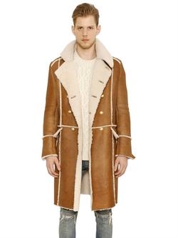 Balmain - Double Breasted Shearling Coat