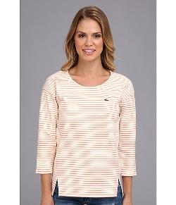 Lacoste - 3/4 Sleeve Interlock Stripe Tee-Shirt