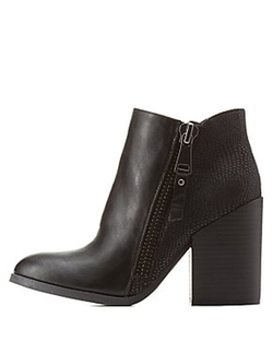 Charlotte Russe - Chunky Heel Ankle Booties