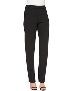 Carolina Herrera  - Double-Face Wool Skinny Pants