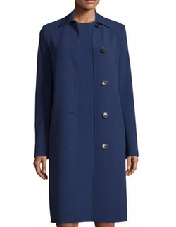 Michael Kors Collection  - Long-Sleeve Button-Front Reefer Coat