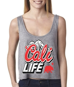 Shop4ever - Cali Life Mountain Boxy Tank Top