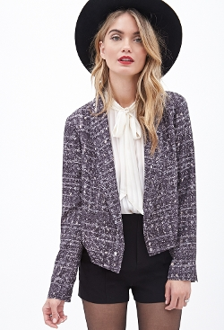 Forever 21 - Cropped Abstract Print Blazer
