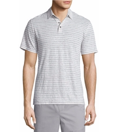 Vince - Feeder Stripe Short-Sleeve Polo Shirt